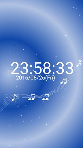 音符 デジタル卓上 時計 白い 音符 無料版