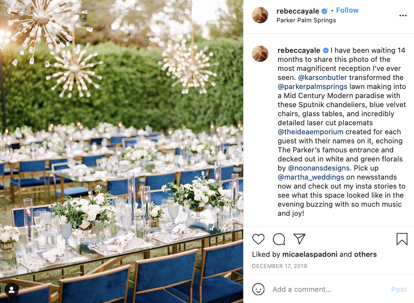blues and greens outdoor wedding color scheme
