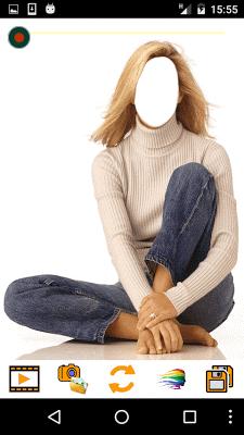 Girls Jeans Fashion Selfie - screenshot