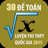 30 đề toán luyện thi THPT 2015