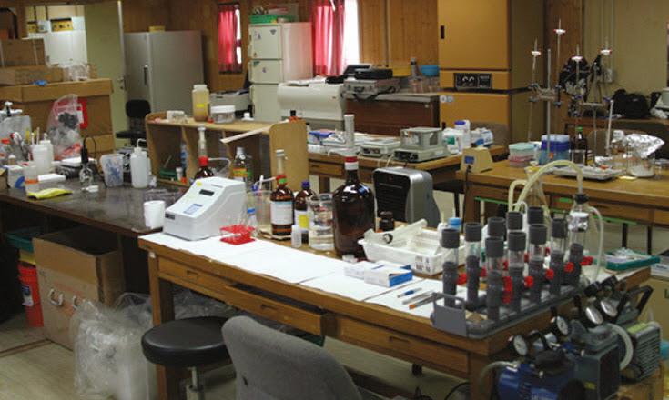 세종기지의 생물연구동 전경