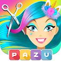 Girls Hair Salon Unicorn - Hairstyle kids games icon