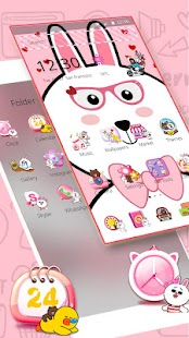 Pink Cute Cartoon Rabbit Theme - náhled