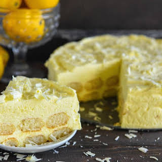 Easy Lemon Mascarpone Layer Cake.