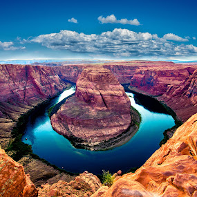 Horse Shoe Bend Arizona by Mike Vaughn - Landscapes Waterscapes ( arizona, horseshoe bend,  )