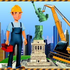 строительство статуи свободы - памятник строитель