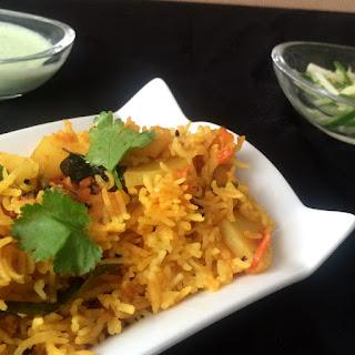 "A Spicy ""Chatpata"" Tehri – a Potato Rice Pilaf"