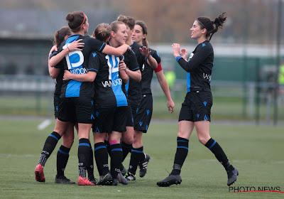 Match tegen Kontich kon niet doorgaan, maar Club Brugge Vrouwen vindt andere tegenstander en maakt indruk