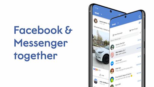 Maki: Facebook & Messenger in one application  screenshots 1