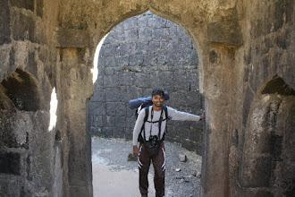 Photo: Me at Bini Darvaja on Torana fort  Photo courtesy Amit Sawant