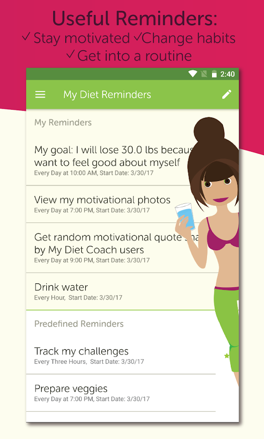 My Diet Coach - Weight Loss Motivation & Tracker- screenshot