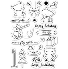 Memory Box Clear Stamp - Hoppy Holiday