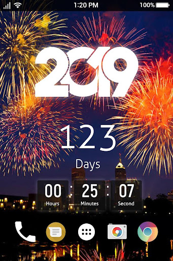 New Year Count Down 2019 & New Year Live Wallpaper 1.1 screenshots 1