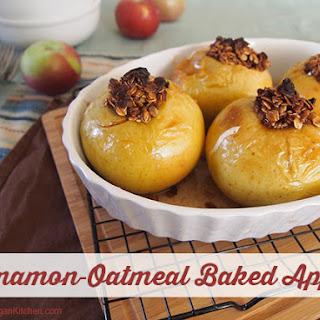Vegan Cinnamon-Oatmeal Baked Apples