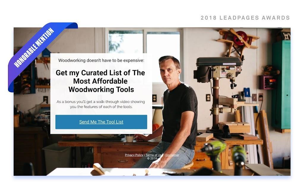 woodworking tools hero image
