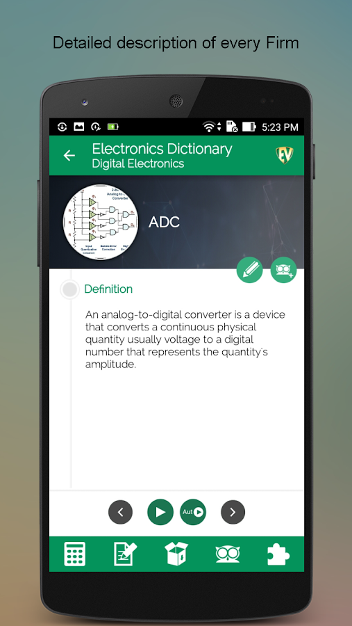 Electronics Dictionary- screenshot