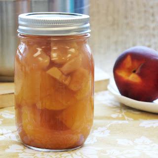 Ginger Honey Pickled Peaches.