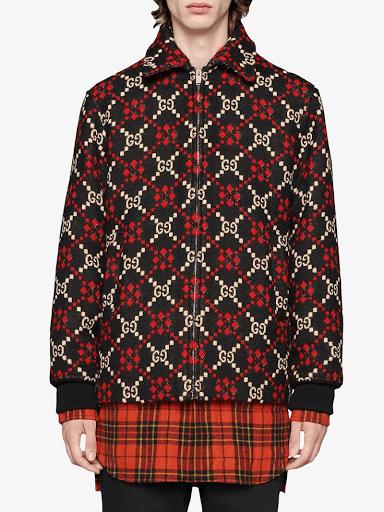 GUCCI GG Diamond Wool Jacket