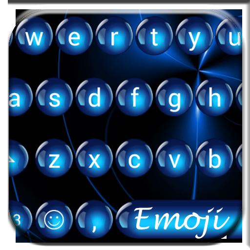 Spheres Blue Emoji Keyboard