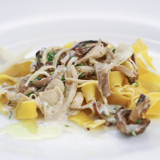 Pasta With White Sauce And Mushrooms Recipes