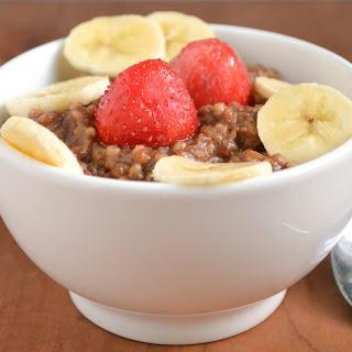 Quick and Healthy Mocha Oatmeal.