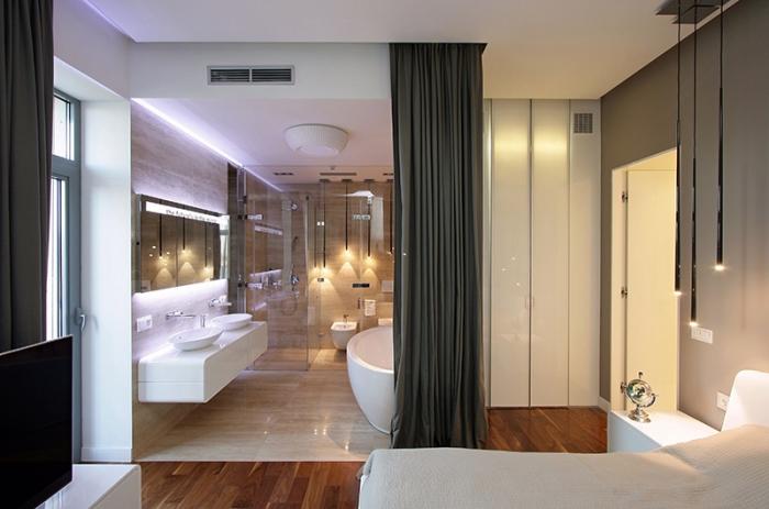 Tránh thiết kế cửa phòng tắm gần hoặc đối diện cửa phòng ngủ