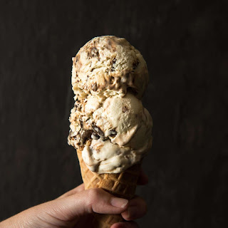 No-Churn Mocha Toffee Cheesecake Ice Cream.