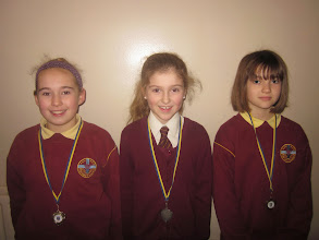 Photo: Under 10's medley relay team who came second