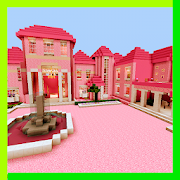 The Princess's Pink Mansion. MCPE Map
