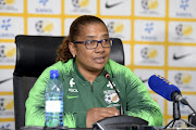Desiree Ellis (Head Coach of Banyana Banyana) during the Banyana Banyana AWCON 2018 Squad Announcement at SAFA House on November 07, 2018 in Johannesburg, South Africa.