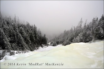 Photo: Looking back toward Lake Placid...obscured by the snow and cloudcover.