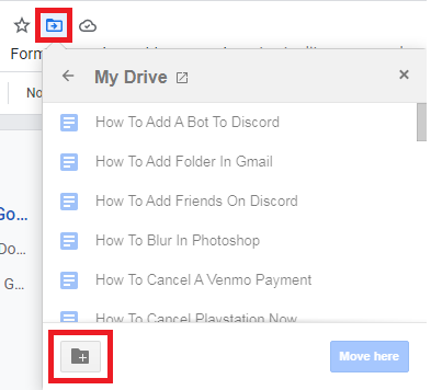How To Create A Folder In Google Docs