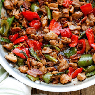 Spicy Chicken and Bacon Stir Fry Recipe