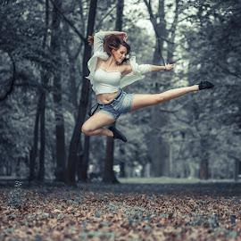 Dancing by David Martinez - Uncategorized All Uncategorized ( outdoor, dancing, woman, girl, photoshoot )