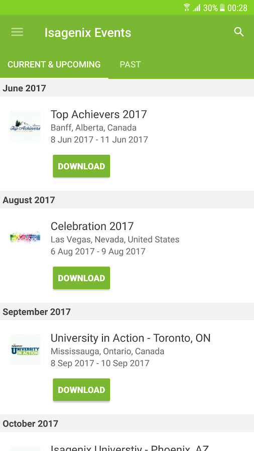 Isagenix Events- screenshot