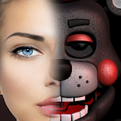 Scary FNaF6 Face Photo Mix Icon