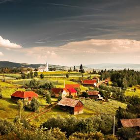 Livezi Ciuc by Eduard Moise - Travel Locations Railway ( village, nature, dreamscape, traditional, landscape )