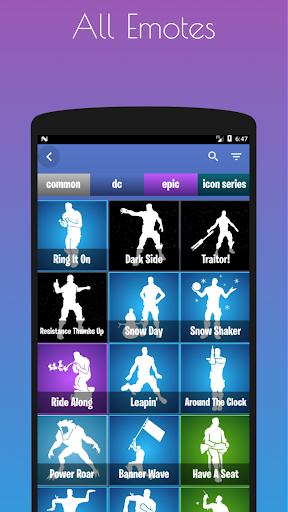 Emotes Ringtones And Daily Shop for Battle Royale screenshot 1