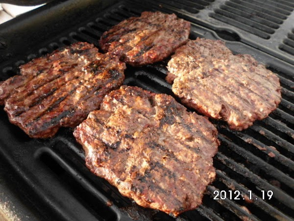 Mix beef and spices together and form patties.  Grill to your liking.
