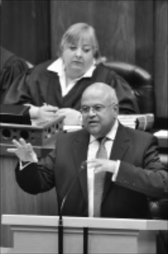 'NOTHING NEW':Finance Minister Pravin Gordhan. Pic. Yolande Snyman. 17/02/2010. ©  Unknown. Minister of Finance Mr PJ Gordhan delivers the National Budget Speech, National Assembly, Parliament, Cape Town, 17/02/2010