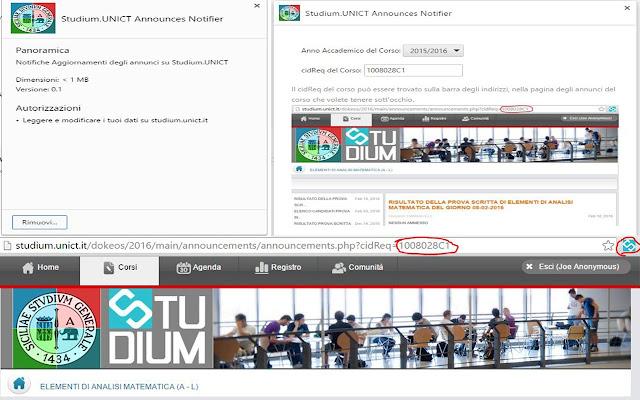 Studium.UNICT Announces Notifier by Carghaez