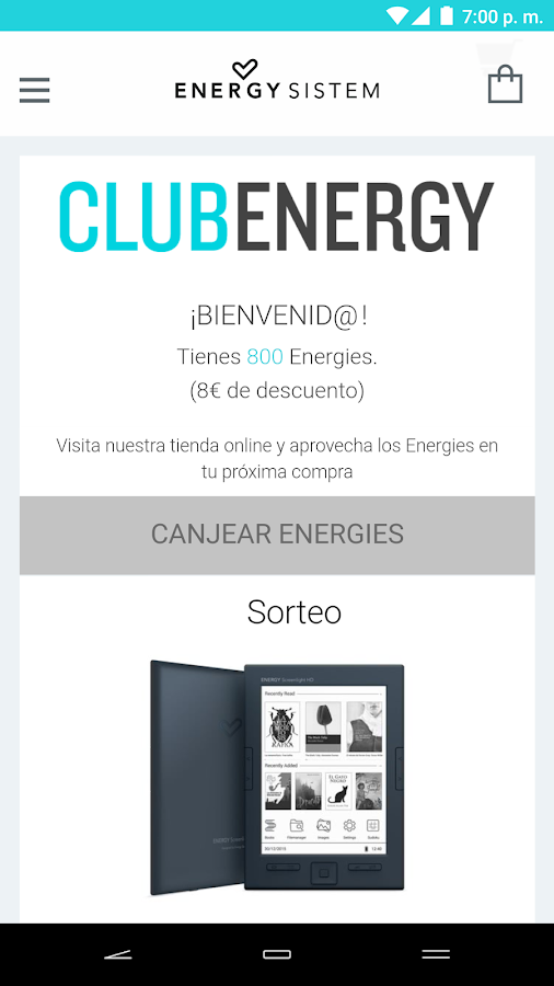 Club Energy: captura de pantalla