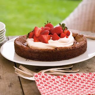 Flourless Chocolate Cake with Strawberries and Cream Recipe