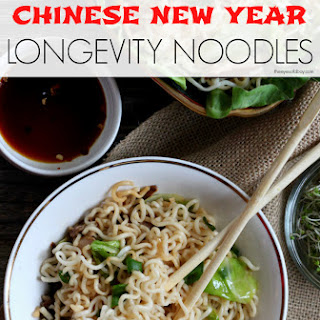 Homemade Chinese Food – Longevity Noodles.