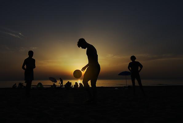 Esibizioni in spiaggia..