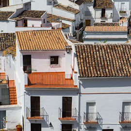 White Village by Chris Seaton - Buildings & Architecture Other Exteriors ( white, buildings, village, architecture, tile roofs,  )