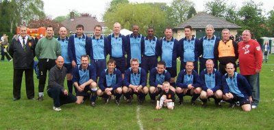 Photo: 01/05/05 v Ex Leeds Utd XI (Charity Match) 3-2 - Boston Spartans FC - contributed by Brian Coutts