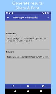 MLA Generator - náhled