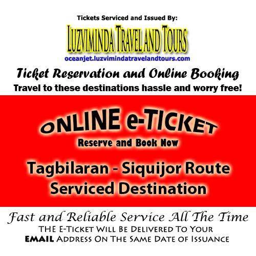 OceanJet Tagbilaran-Larena, Siquijor Route Ticket Reservation and Online Booking