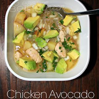 Chicken Avocado and Potato Soup